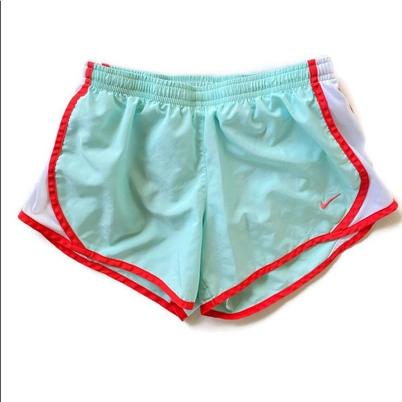 Nike Other - M 12 Nike Girls Training Shorts Lined green coral